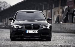 BMW E92 M3 Black Car Front
