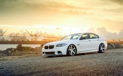 BMW F10 550i Car Tuning Parking Road