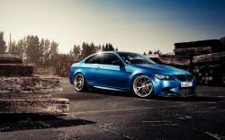 BMW M3 Blue Car Parking