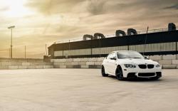 BMW M3 E92 White Car Parking HD Wallpaper