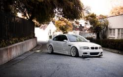 BMW M3 E46 White Car Photo