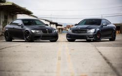 BMW M3 Mercedes-Benz C63 Cars Matte Black