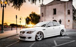 BMW M5 White Tuning City