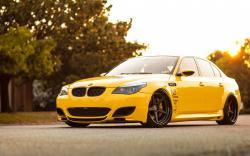 BMW M5 Yellow Car Tuning
