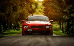 BMW M6 E63 Red Car HD Wallpaper