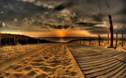 ... Boardwalk Wallpaper ...