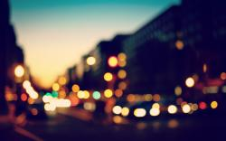 Bokeh Lights Sunset City