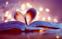 Book Heart Lights Bokeh Love