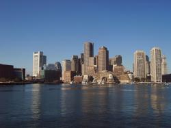 File:Boston skyline from the Atlantic Ocean.jpg