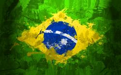 Brazil flag splash