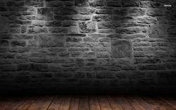 Brick Wall Wallpaper Brick wall and wood floor
