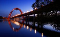 moscow bridge desktop hd widescreen wallpaper