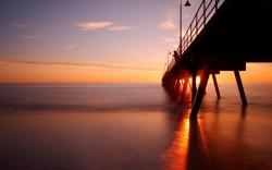 Sunset Bridge wallpaper