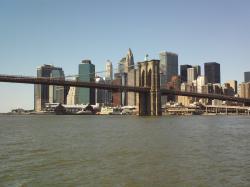 File:Brooklyn bridge and Manhattan.JPG
