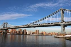 ... Brooklyn and Manhattan Bridges, where I pick service berries in June. From the bridges themselves icicles hung, hundreds of feet high and thick and ...
