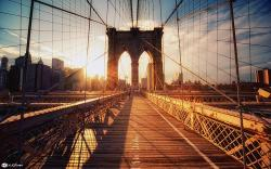 Brooklyn Bridge Sunset Wallpaper Images 1920x1200px