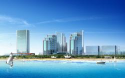 city building beach wallpaper hd