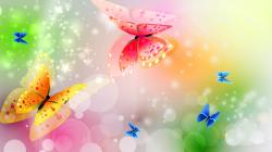 Abstract Shining Butterfly Wallpaper
