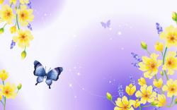 Blue Butterfly Wallpaper; Butterfly Wallpaper ...