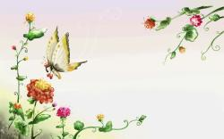 yorkshire_rose butterfly wallpaper