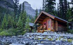 ... Log Cabin Wallpaper ...