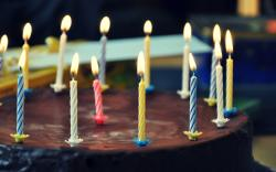 Cake Chocolate Sweet Dessert Candles Birthday