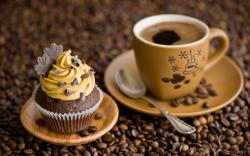 Cake Cream Chocolate Cup Coffee
