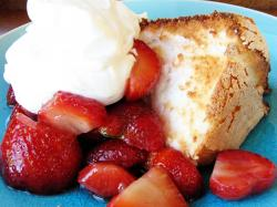 It's pretty much a deconstructed Strawberry Shortcake if you think about it. I remember having this after dinner in the summer time, so good, ...