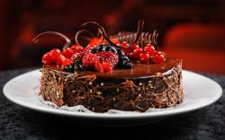 Cake Plate Chocolate Berries Raspberry Blueberry Currant Delicious Dessert · Cake Plate Chocolate Berries Raspberry Blueberry Currant Delicious Dessert