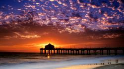 cool background california beach colorful sky