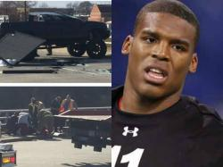 NFL Star Cam Newton Involved in a Car Accident, Was Sent to the Hospital