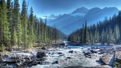 wild mistaya river in alberta canada hdr HQ Wallpaper