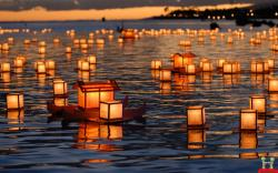 DOWNLOAD AS DESKTOP BACKGROUND: Uploads amazing small beautiful candle ships in water wallpaper jpg - FULL SIZE ...