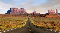 Grand Canyon Road Hd Free Nature Wallpaper