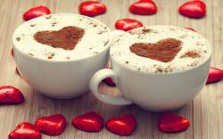 Cappuccino chocolate hearts