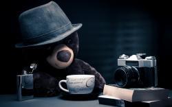 Cappuccino Coffee Camera Bear Toy