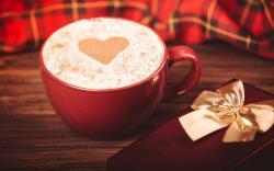 Cappuccino Cup Heart Gift Box Love