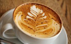 Cappuccino foam pattern
