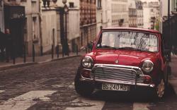 Car Red Street City Auto