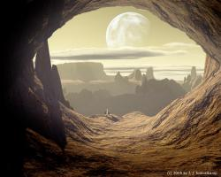 ... a cave on a desert planet by hoevelkamp