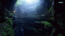 Jungle Cave wallpaper 1366x768