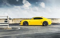 Chevrolet Camaro RS Yellow Car HD Wallpaper