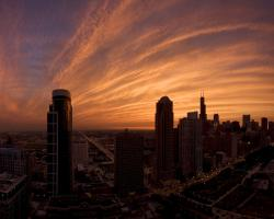 Chicago Sunset Wallpaper Widescreen 2 HD Wallpapers