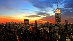 spectacular_sunset_over_nyc. Chicago Sunset. water_sunset_cityscapes_chicago_night_buildings_lakes_1920x1080_79321