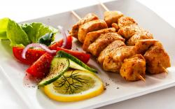 Chicken Kebab Wallpaper in 2560x1600 Widescreen