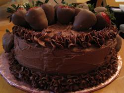 chocolate cake chocolate cake dessert chocolate covered strawberries strawberries food 5221 shares source foodforfatties blog