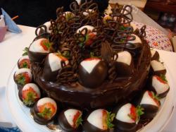 ... Chocolate-Birthday-Cake-Background ...