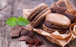 Chocolate Macaron Wallpaper