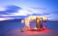 Christmas caravan desert