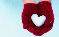 Snow Heart HD Wallpaper Free Download